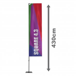 Square 4.3 Flying Banner