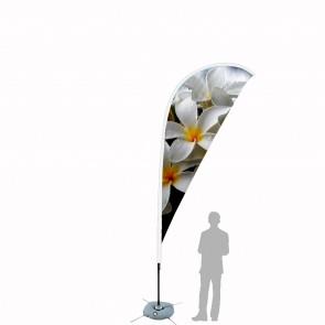 Bandiera Personalizzata per Goccia 4.1 in poliestere nautico con tasca bianca