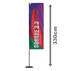 Square 3.3 Flying Banner